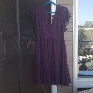 Purple Lace O-Ring Babydoll dress.